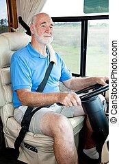 vezetés, a, autózik saját