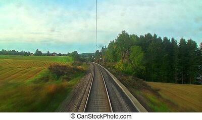 vezetés, a, gyors vonat