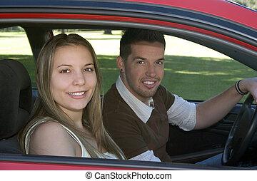 vezetés, autó