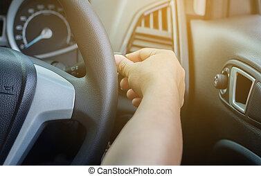 vezetés, autó.