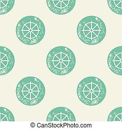 vezetés, motívum, hajó, zöld