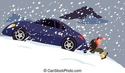 vezetés, tél