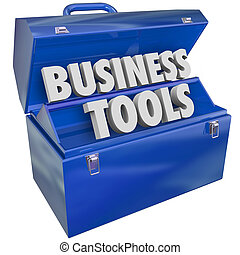 vezetőség, ügy, szerszámosláda, eszközök, erőforrás, ...