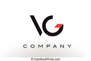 VG Logo.  Letter Design Vector.