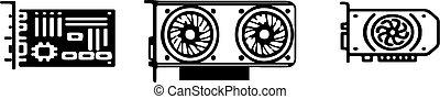 vga card icon on white background