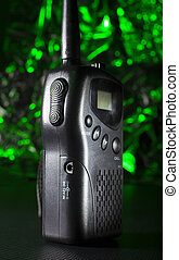 VHF transceiver with a green background - Green background...