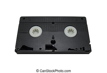 VHS Cassette isolated on white background