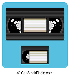 VHS & Mini Video Cassette Without Labels Fully Editable Illustration