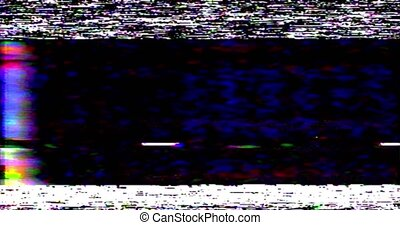 VHS screen digital glitch and noise. Videotape rewind mode. Black white static noise motion.old film grunge on black background realistic flickering,. High quality 4k footage