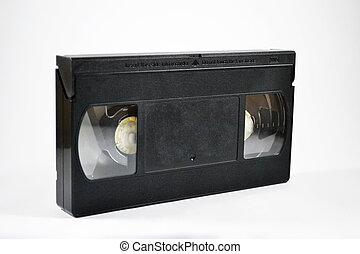 VHS tape on white background