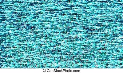 VHS TV damage, static television noise Loop Animation Background.