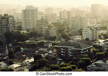 Viña del Mar, Chile - panorama of the city in the morning