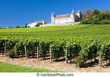 viñas, de, francia, rully, borgoña, residencia lujosa