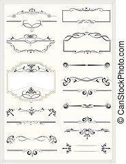 vi, フレーム, 要素, calligraphic