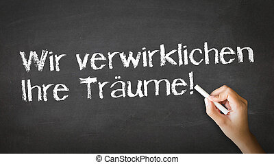 vi, forarbejde, drømme, virkelighed, (in, german)