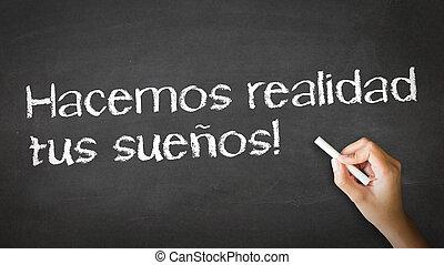 vi, forarbejde, drømme, virkelighed, (in, spanish)