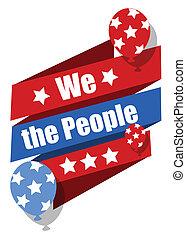 vi, -, forfatning, dag, folk