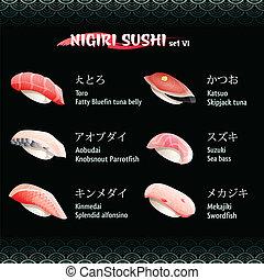 vi, nigiri sushi