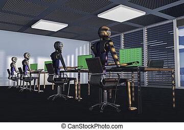 vi, vær, den, robotter