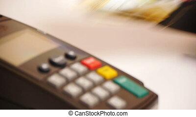 via, -, carte de débit, termin, paiement, hd