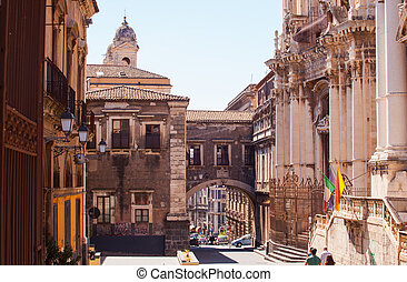 Via dei Crociferi, Catania - View of Via dei Crociferi and...