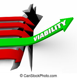 Viability Arrow Rises Possible Potential Success Feasibility...