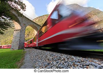 viaduc, brusio, train, spirale