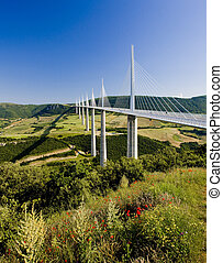 viaduc, departement, millau, aveyron, france