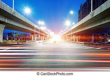 Viaduct and light track