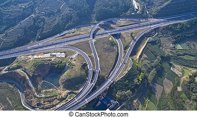Viaduct of aerial photography - Bridge of aerial photography