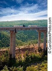 viaducto de Bunol in Autovia A-3 road Valencia Spain
