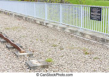 viadukt, spåra, skottland, laigh, ayrshire, handling, öster...