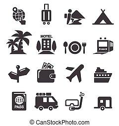 viagem, ícone