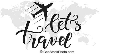 viagem, caligrafia, escova