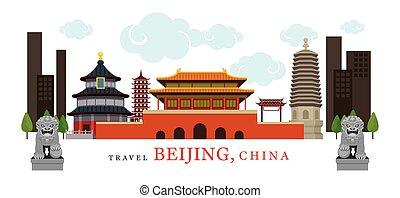 viagem, china, beijing