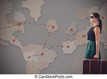 viagem, compromissos, negócio