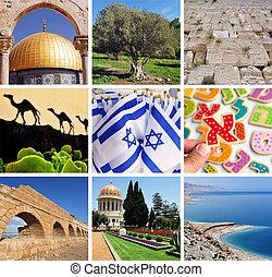 viagem, israel, cartão postal