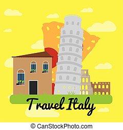 viagem, itália