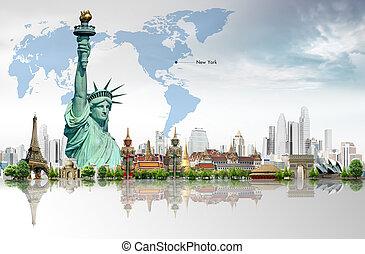viagem mundial, conceito