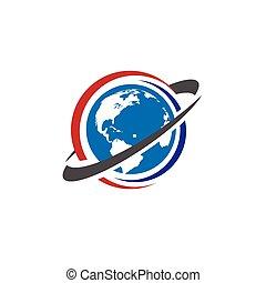 viagem mundial, negócio, logotipo