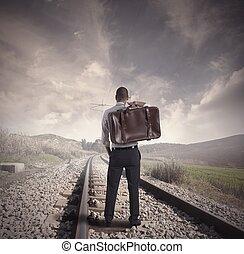 viagem, para, negócio