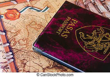 viagem, passaporte