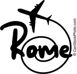 viagem, roma