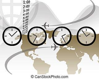 viagem, tempo