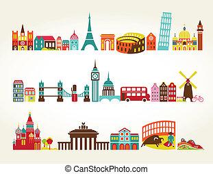 viagem turismo, localizações