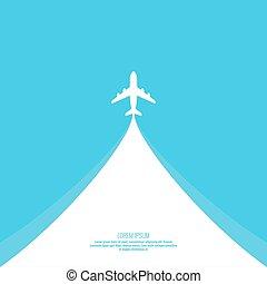 viagem, vetorial, concept., ilustração