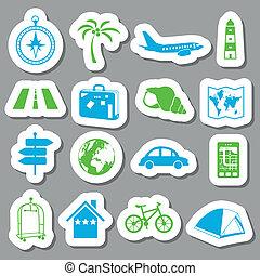 viaggiare, adesivi