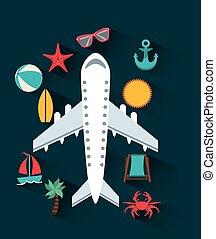 viaggiare, aeroplano