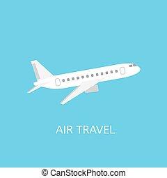 viaggiare, aria, icona