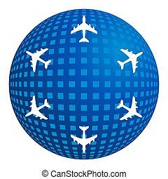 viaggiare, aria, volo